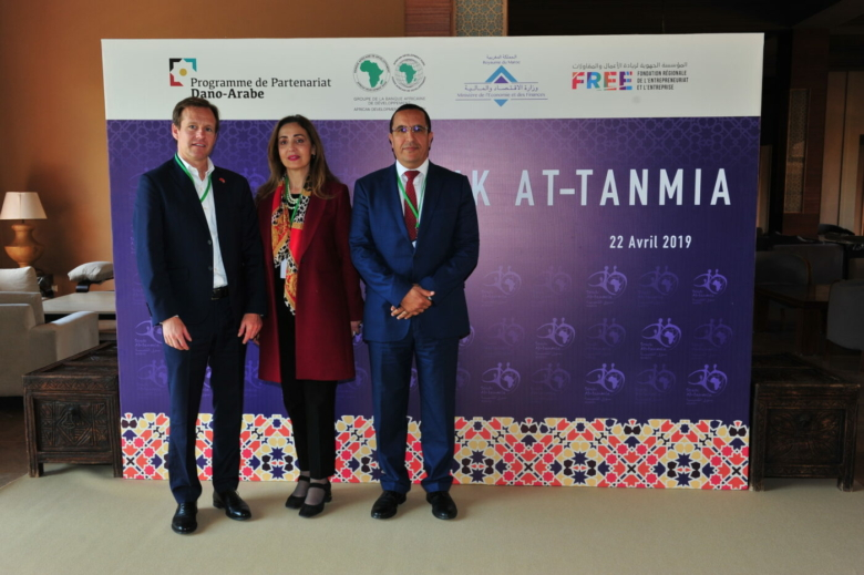 Souk Attanmia receives financially support from the Danish-Arab Partnership Programme. Danish ambassador Nicolaj Harris took part in the launch event. Photo: Souk Attanmia.
